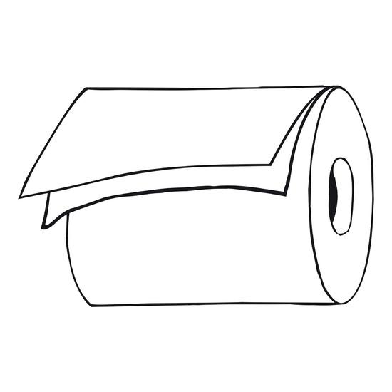 Handtuchrolle/weiß/2-lag.